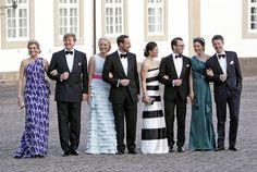 L-R: Princess Maxima & Prince Willem-Alexander, Princess Mette-Marit & Prince Haakon, Princess Victoria & Prince Daniel, Princess Mary & Prince Frederik