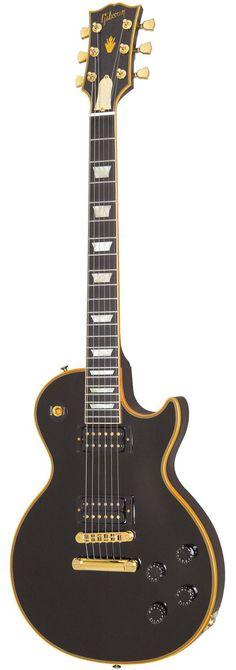 gibson les paul classic custom electric guitar antique ebony
