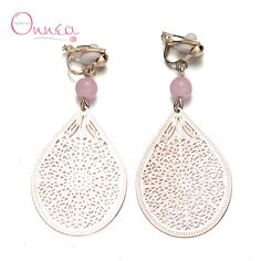 Find More Drop Earrings Information about  Dangle Earrings 18K Gold Plated Pink Beads Crystal Hollow Out Drop Earings For Women Girls,High Quality earring crystal,China earring necklace Suppliers, Cheap earring led from Vogue Fashion Jewelry Co.,Ltd on Aliexpress.com