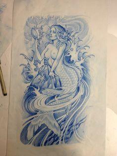 #tattoo #tatuagem #sereia #sketch #idea