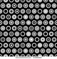 dark star vector seamless pattern - stock vector