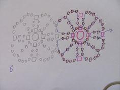 Schema series for Flower Bracelet ~ Seed Bead Tutorials