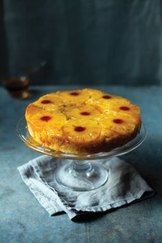 Theodora's Upside Down Cake photographed by Donal Skehan #cookbook #recipe #baking #cake  http://www.gillmacmillanbooks.ie/cookery/cookery/the-pleasures-of-the-table