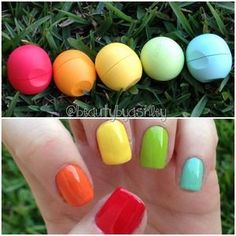 eos lip balm inspired nails