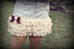Vintage Shabby Chic Denim Lace baby girl skirt by MeTutu on Etsy