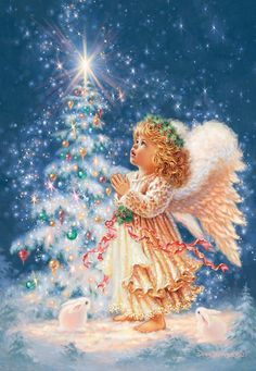 Merry Christmas Wishes : Illustration Description My Christmas Wish Christmas Jigsaw Puzzle Christmas Scenes, Vintage Christmas Cards, Christmas Wishes, Christmas Pictures, Christmas Angels, Christmas Greetings, All Things Christmas, Winter Christmas, Christmas Time