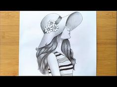 best=How to Draw a Girl with Hat for BEGINNERS step by step Pencil sketch Prom Dresses Stores Pencil Sketches Of Girls, Beautiful Pencil Sketches, Pencil Drawing Inspiration, Beautiful Girl Drawing, Easy Drawings Sketches, Pencil Sketch Drawing, Girl Drawing Sketches, Girl Sketch, Cool Art Drawings