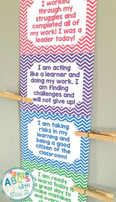 This behavior chart is a great tool for classroom management! The chart is a clip up clip down chart that uses growth mindset language and gives students and the teacher a good idea of behavior happening in the classroom, as well as an appropriate way to redirect and guide students towards success.