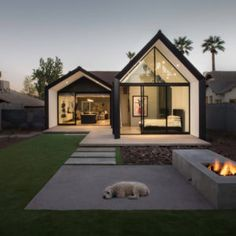 Like the simple angles created of the peak of the roof, but not specifically for the deck Modern Barn House, Modern House Design, Home Roof Design, Barn House Design, Simple House Design, Modern Cottage, Casas Containers, Home Fashion, Modern Architecture