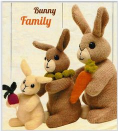 Bunny Rabbit Family (3 sizes)   www.yarnpassion.com