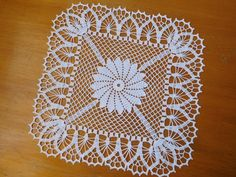 Square white crochet tablecloth or crochet doily Mothers d. - Square white crochet tablecloth or crochet doily Mothers d… Gifts Square white crochet tablecloth or crochet doily Mothers day gift Wedding table centrepiece coffee tablecloth - Crochet Doily Patterns, Crochet Squares, Crochet Motif, Crochet Doilies, Crochet Flowers, Crochet Home, Love Crochet, Learn To Crochet, Beautiful Crochet