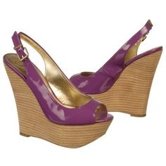 Light up the night in the sexy chic purple BONITA TOO wedge sandals from Fergie.