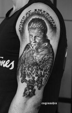 sons of anarchy - engin sahin -realistic tattoo - taksim - portrait tattoo - dövme -passion - motorcycle