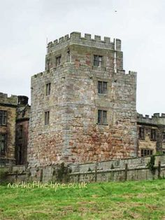 Ford Castle built 1287 in Northumberland, England. Quadrangular type with four corner towers, three of which survived.  It was converted into a mansion in 1694. The castle is now in the ownership of Northumberland County Council and is used as an educational establishment. Photo: northofthetyne.co.uk