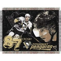 """Sidney Crosby #87 Pittsburgh Penguins NHL Woven Tapestry Throw (48x60"""")"""""""
