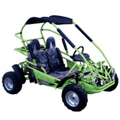 Responding to customer requests, TrailMaster has introduced it's latest youth sized go-kart complete with a 3 speed automatic transmission and reverse! The Mid 110XRX is similar to TrailMaster's other kids models with the exception of the new tranny. It still features a fully welded steel frame, front and rear suspension, hydraulic braking and generously sized, 16 inch all-terrain tires.  #gokart #adventure #christmas