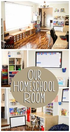 Homeschool Room Tour from 1+1+1=1 with a video and loads of photos!