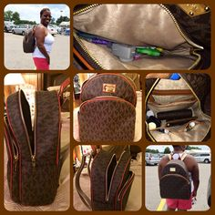 Love this Michael Kors backpack