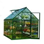 Palram 8 ft. 2-1/2 in. x 6 ft. 2 in. Polycarbonate Greenhouse-701273 at The Home Depot
