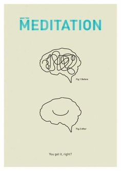 Talk about simple illustration, this is it ! Meditation can seem to be easy but it's not ! That's why it takes time to find what works for you ! Dedicate a month to it and see how much it helps you ! Remember meditation is not about changing who Yoga Meditation, Vipassana Meditation, Meditation Benefits, Meditation Quotes, Meditation Practices, Yoga Quotes, What Is Meditation, Meditation Center, Meditation Pictures