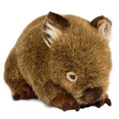 Australian Geographic Shop Minkplush Russell the Wombat Cuddly Toy , Australian Geographic Shop