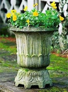 An Eight Sided Haddonstone Cast Stone Garden Planter In The Regency Style  With A Gorgeous Lotus Leaf Decoration Covering The Base And Sides.