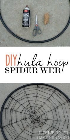 Hula Hoop Spider Web Tutorial - super affordable and easy! | www.overthebigmoon.com!