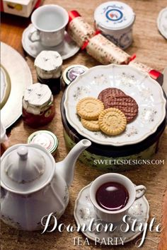 Downton Inspired Tea Party- perfect for a holiday brunch!
