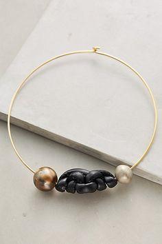 Knotwork Collar Necklace #anthropologie