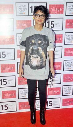 Kiran Rao at the Lakme Fashion Week Summer/Resort 2015 curtain raiser. #Bollywood #Fashion #Style #Beauty #LFW15