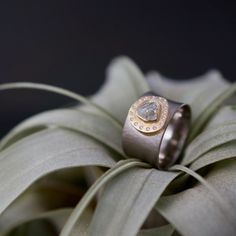 Raw Diamond Ring Raw Diamond Rings, Wedding Order, Jewelry Art, Jewellery, Gems, Wedding Rings, Engagement Rings, Clay, Studio