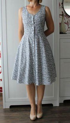 Button Down Dress - Midi Dress Pattern Casual Dresses, Short Dresses, Fashion Dresses, Summer Dresses, Modest Outfits, Women's Dresses, Frock Design, Diy Kleidung, Indian Designer Wear