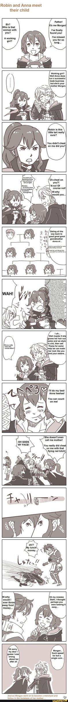 fireemblem I'm sorry if you support with Anna they should have given you two children Morgan and another Anna just with the avatars hair color