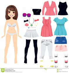 Paper Doll Women Fashion - Download From Over 41 Million High Quality Stock Photos, Images, Vectors. Sign up for FREE today. Image: 32867642