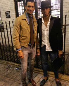 Me and the man himself. David Gandy.  Last day of fashion week.  #lfw…