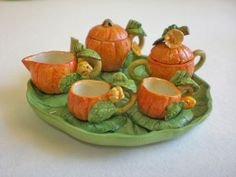 miniature tea set~PUMPKIN