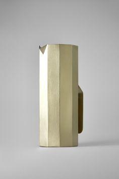 Brass Decagonal Water Pitcher - studiokyss