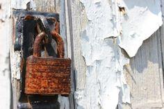 Rusty outside lock