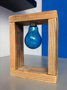 DIY - Lampara de madera reciclada / recycled wooden lamp #clowday