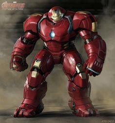 Vingadores: Era de Ultron - Liberadas incríveis artes conceituais da Hulkbuster e do Ultron! - Legião dos Heróis