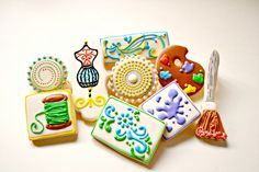 """Cookies for """"Crafty Kids"""" get together in my town by Custom Cookies by Jill, via Flickr"""
