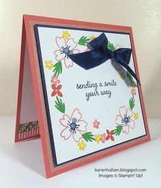 Love & Affection with Affectionately Yours DSP and Washi Tape.  New to Stampin' Up!  See it at karenhallam.blogspot.com