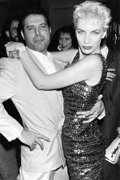 The late, great Freddie Mercury and Annie Lennox: Studio54, circa fabulous!