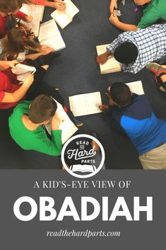 The kids in my children's church class studied the book of Obadiah and came up with three insightful applications. Don't hold a grudge, don't brag, and obey God. Bible Lessons For Kids, Bible For Kids, Bible Study Guide, Hard Part, Object Lessons, Children Church, Young Children, School Lessons, Christian Women