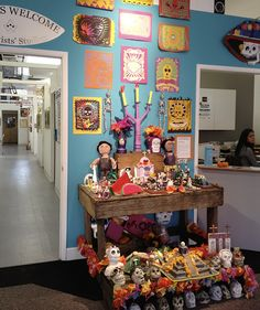 Dia de los muertos altar exhibition. This was part of an exhibition of altars that I curated for ArtWorks Downtown--Sharon Christovich, the FolkArt Gallery.