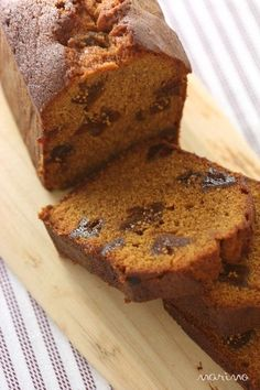 How to make fig and caramel pound cake ♪: marimo cafe Sweets Recipes, Bread Recipes, Desserts, Bread Cake, Cake Flavors, Food To Make, Bakery, Good Food, Cooking