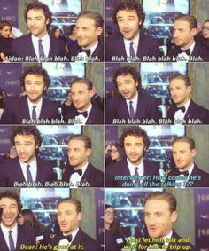 Aidan Turner and Dean O' Gorman @Becky Hui Chan I'm totally more Dean in this lol.