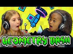 FineBros:Kids react to Geometry Dash(Gaming)