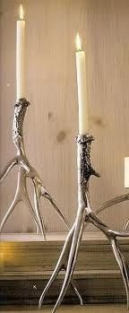 Roost Polished Antler Candlesticks & Pillar Holders - eclectic - candles and candle holders - zhush