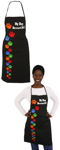 My Dog Rescued Me Apron at The Animal Rescue Site